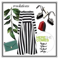 """""""#PolyPresents: New Year's Resolutions"""" by pinkdream235 ❤ liked on Polyvore featuring Valentino, Andrea, Universal and Bobbi Brown Cosmetics"""