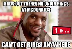 LeBron Mickey D's ring joke