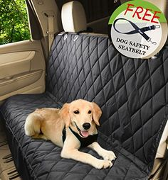 Jespet Luxury Quilted Rear Waterproof Non Slip Backing Seat Cover For Cars Trucks And SUVs Heavy Duty With Side Flaps A Free Safety