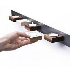 magnetic tea light holder