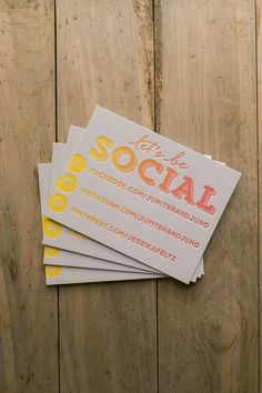 Social media contact cards, business cards, letterpress business cards, ombre, rainbow roll, split fountain, contact cards, calling cards, branding and packaging
