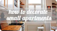 Learn how to decorate small apartments and spaces! #interior #apartmentdesign