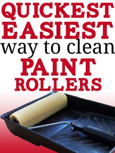 Easy, free trick to clean paint rollers SUPER fast!: Easy, free trick to clean paint rollers SUPER fast! Do It Yourself Furniture, Do It Yourself Home, Fast Furniture, Furniture Repair, Furniture Outlet, Furniture Design, Diy Cleaning Products, Cleaning Solutions, Cleaning Hacks