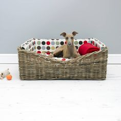 I've just found Charley Chau Dressed Rattan Pet Basket. A classic Rattan Pet Basket by Charley Chau, dressed with a luxury mattress and co-ordinating bed bumpers to create a super-cosy pet bed.. £198.00