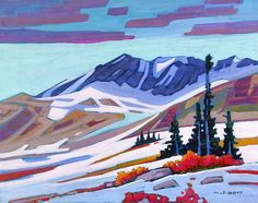 A collection of Paintings by Canadian Painter Nicholas Bott. Abstract Landscape, Landscape Paintings, Abstract Art, Landscapes, Canadian Painters, Canadian Artists, Mountain Art, Art Pictures, Art Pics