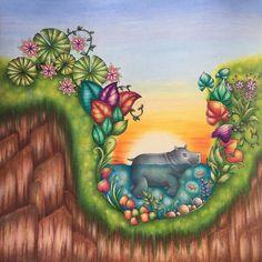 Happy Hippo #johannabasford #magicaljungle