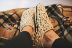 Winter Waves Slippers by Jennifer Pionk