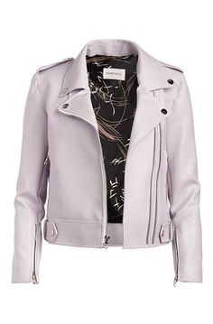 double zip  http://www.refinery29.com/leather-jackets-by-budget#slide-10  Could a subtle lilac number replace your trusty black one?Dauntless Moto II Jacket, $270, available at Garmentory....