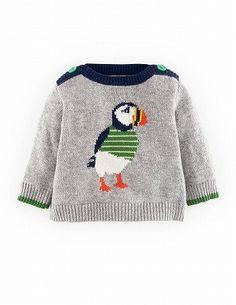 Boden ベビーウェア・ロンパース 【Mini Boden】ペンギンが可愛いセーター
