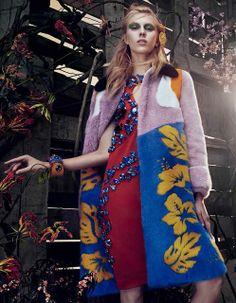 Juliana Schurig by Sharif Hamza for Vogue Japan March 2014 #prada
