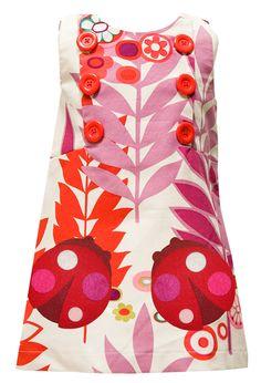 "Decaf Plush ""Floral Ladybug"" Mod Dress"