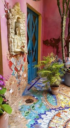 A beautiful entryway invites people into your home...  ~~  Houston Foodlovers Book Club