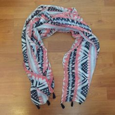 abaf30d11 Candie's Blue White and Pink Polyester Scarf #fashion #clothing #shoes  #accessories #