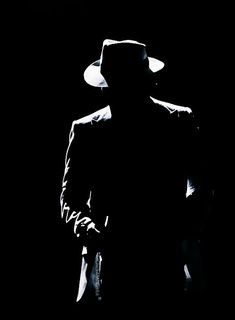 Iconic Smooth Criminal silhouette.
