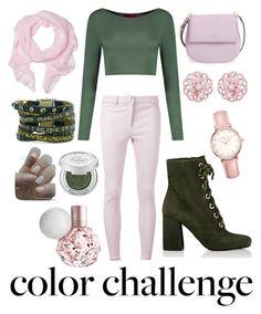 """Pink and Green"" by samseepoo on Polyvore featuring interior, interiors, interior design, home, home decor, interior decorating, Boohoo, Rebecca Vallance, Kate Spade and Prada"