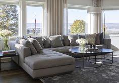 Living room, Private Villa - Designed by Norwegian Interior Architect firm Metropolis arkitektur & design - www. Villa Design, Sofa, Couch, Living Room, Lighting, Interior, Inspiration, Furniture, Space