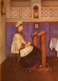 Young Woman in the Synagogue by Isidor Kaufmann (Austrian-Jewish b. Sisters, Painting, Female Art, Jewish Symbols, Art, Jewish Art, Feminist Art, Artwork Painting