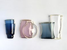 sarpaneva still life brooches(finnish) glass ware, silver, steel needles by Gesine Hackenberg
