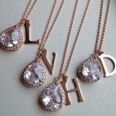 Gorgeous crystal initial necklace