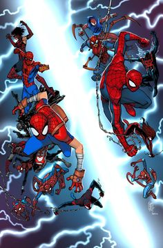 Spiderman in spider verse Scarlet Spider, Spider Gwen, Scarlet Witch, Comic Book Characters, Comic Character, Comic Books Art, Comic Art, Amazing Spiderman, All Spiderman