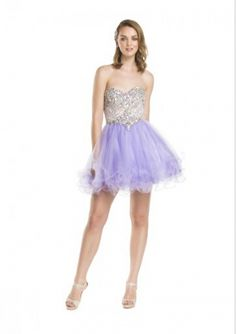 Cheap and Australia 2016 Lilac A-line Sweetheart Neckline Beaded Sequins Organza Mini Length Homecoming/ Evening Dress/ Prom Dresses CS1410 from Dresses4Australia.com.au