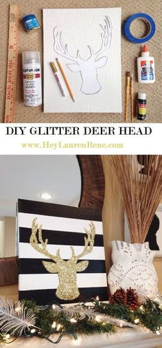 #DIY a glittery reindeer for your holiday decor!