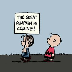 It's the Great Pumpkin, Charlie Brown! I LIVE for this when fall/Halloween comes around! Charlie Brown Halloween, Peanuts Halloween, Charlie Brown Y Snoopy, Great Pumpkin Charlie Brown, It's The Great Pumpkin, Snoopy Love, Halloween Boo, Holidays Halloween, Vintage Halloween