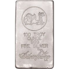 100 oz SilverTowne Poured Silver Bars from JM Bullion™ Silver Bars, The 100, Coins, Pure Products, Gold, Stuff To Buy, Ebay, American, Coining