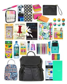 """school supplies!"" by libster4404 ❤ liked on Polyvore"