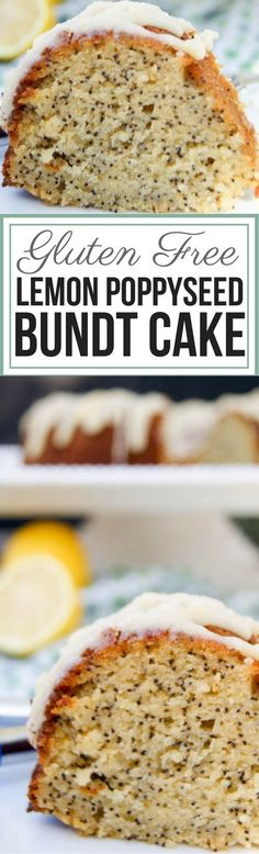 Lemon Poppyseed Bundt Cake | Gluten Free - This delicious grain free desert has the perfect blend of tartness and the delicate sweetness from honey.  via @preparenourish