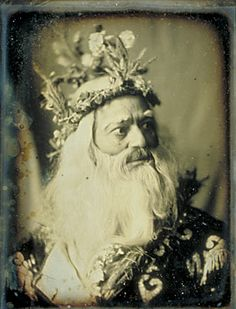 Quarter-plate daguerreotype Junius Wallingford as Caractacus the Druid From The Mystery of the Grove or The Druid's Curse by Cecilia Beall Norbeck Louis Daguerre, Antique Photos, Vintage Photographs, Vintage Photos, King Lear, Victorian Life, Pre Raphaelite, Green Man, Pagan