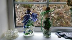 Handmade from Southern Ireland. Sea Glass Art, Sea Glass Jewelry, Glass Bottles, Glass Vase, Southern Ireland, Artwork For Home, Coastal Decor, Pottery, Decoration