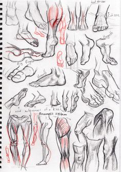 Study sketch. Feet and legs. by Cthulhu-Great.deviantart.com on @deviantART