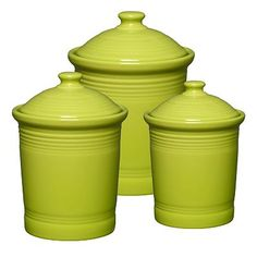 I LOVEEEE the Fiesta canisters - But they're pretty expensive... I want to get one in Lemongrass, Turquoise, Shamrock, and Peacock (the jam jar, the x-small size)... I'll have to save up!