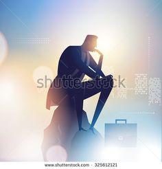 Thinker. Business illustration