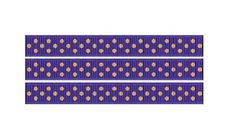 "5 yards 3/8"" TINY PURPLE WITH YELLOW GOLD SWISS DOT Print Grosgrain Ribbon"