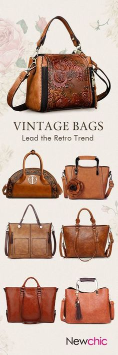 Vintage Leather Women Bags,Used For Dating,Office,Shopping,Travelling...