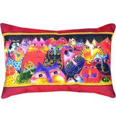 Laurel Burch Cat Throw Pillow – Cat Party
