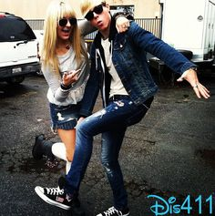 """Riker And Rydel Lynch From R5 Getting Ready For Their """"Loud"""" Video Shoot ----I love Riker's shoes <3 :)"""
