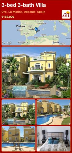 3-bed 3-bath Villa in Urb. La Marina, Alicante, Spain ►€188,000 #PropertyForSaleInSpain