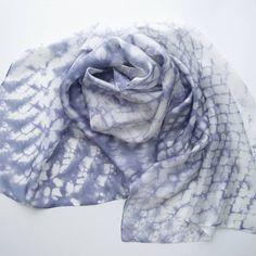 Silk scarf. Batik on the silk. 50*140cm