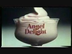 Classic Ads: Angel Delight, tasted like wallpaper paste. 1980s Childhood, Childhood Memories, Angel Delight, Wallpaper Paste, Tv Ads, Smiles And Laughs, Old Tv, Do You Remember, Golden Age