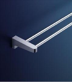 dorf arc wall double towel rail 600mm bathroom accessories