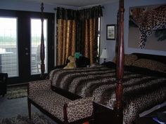 Bedroom Ideas Leopard Print leopard print is full of color and texture in this room for the