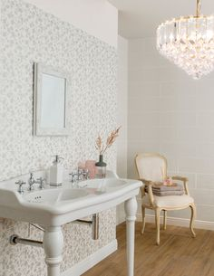 A fresh take on the classic floral print, Wild Blossom is a white body ceramic tile with a subtle ripple finish. Available in four colours, Milk, Rose, Seagrass and Sky; the coordinating floral decor can be used to mimic the effect of wallpaper in both contemporary and traditional settings.