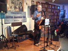 Charlie King, folk singer and songwriter, performing at Uptown Bill's. He was at the coffee house on Friday, April 24.
