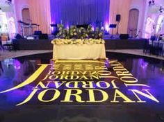 Use a #gobo projector to create a fun and personalized look for a #batmitzvah! Rent a #gobo projector for $99 - includes everything you need: including a custom design and free shipping nationwide!  www.RentMyWedding.com