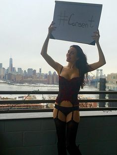 Christy Carlson Romano Poses in Lingerie, Protests 50 Shades Of Grey - Us Weekly
