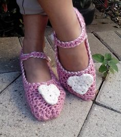 Be sweet to your feet this Valentine's Day in pink crochet slippers. Handmade, so soft and comfortable. $30 a pair.
