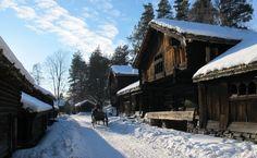 Norsk Folkemuseum in winter; Oslo